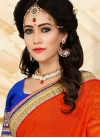 Stupendous Orange Half N Half Saree For Ceremonial - 1