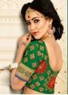 Marvelous Crimson Net Classic Designer Saree - 2