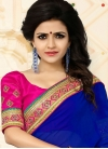 Intrinsic Blue Net Designer Traditional Saree - 1