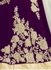 Celestial Cutdana Work Off White and Purple Mouni Roy Trendy A Line Lehenga Choli - 1