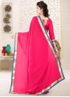 Faux Georgette Lace Work Contemporary Style Saree - 2