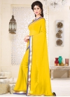 Lace Work Traditional Saree For Casual - 1