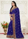 Embroidered Work Faux Georgette Trendy Saree - 1