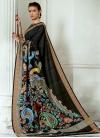 Tussar Silk Designer Contemporary Style Saree - 1