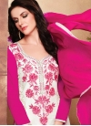 Rose Pink and White Cotton Pant Style Classic Suit - 1