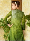 Olive and Silver Color Digital Print Work Pant Style Pakistani Suit - 2