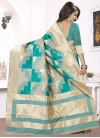 Thread Work Silk Traditional Saree For Ceremonial - 1