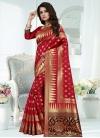Thread Work Banarasi Silk Classic Saree - 1