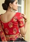 Black and Red Designer Contemporary Saree For Ceremonial - 2