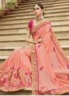 Embroidered Work Art Silk Classic Saree - 1