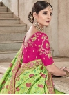 Mint Green and Rose Pink Contemporary Style Saree - 2