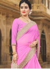 Faux Georgette Beads Work Trendy Classic Saree - 1