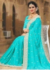 Beads Work Faux Georgette Trendy Classic Saree - 1