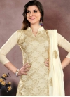 Chanderi Cotton Trendy Churidar Salwar Suit - 1