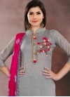 Beads Work Churidar Salwar Kameez - 1