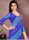 Bandhej Print Work Trendy Straight Salwar Kameez - 1