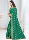 Faux Georgette Contemporary Style Saree - 1