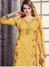 Cotton Aari Work Trendy Churidar Salwar Kameez - 1