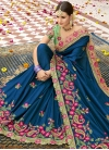Satin Silk Designer Contemporary Style Saree - 1