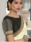 Black and Cream Contemporary Style Saree - 1