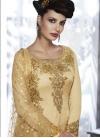 Tussar Silk Pant Style Designer Salwar Kameez For Festival - 1