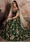 Crepe Velvet Embroidered Work A Line Lehenga Choli - 1