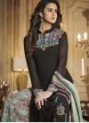 Black and Sea Green Designer Palazzo Salwar Suit - 1