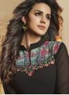 Black and Sea Green Designer Palazzo Salwar Suit - 2