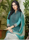 Dignified Lace Work Cotton Pant Style Pakistani Salwar Suit - 1