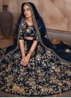 Crepe Velvet Trendy Lehenga For Bridal - 1