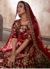 Embroidered Work A Line Lehenga Choli - 2