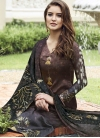 Black and Coffee Brown Pant Style Straight Salwar Suit - 1