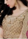 Thrilling Beads And Stone Work Designer Lehenga Saree - 2