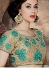 Modish Floral Work Designer Lehenga Saree - 1