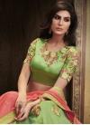 Embroidered Work Khadi Silk A Line Lehenga Choli - 1