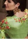 Embroidered Work Khadi Silk A Line Lehenga Choli - 2