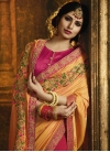 Gold and Rose Pink Half N Half Saree For Ceremonial - 1