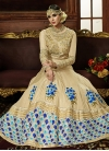 Embroidered Work Silk Long Length Salwar Kameez - 1