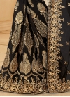 Artistic Booti Work Faux Georgette Contemporary Style Saree - 2