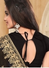 Artistic Booti Work Faux Georgette Contemporary Style Saree - 1