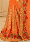 Baronial Faux Georgette Booti Work Trendy Designer Saree For Ceremonial - 2