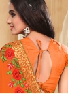 Baronial Faux Georgette Booti Work Trendy Designer Saree For Ceremonial - 1