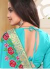 Conspicuous Booti Work Traditional Designer Saree For Ceremonial - 1