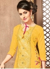 Trendy Churidar Salwar Kameez For Festival - 1