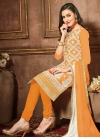 Cotton Churidar Salwar Kameez - 1