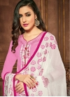Cotton Embroidered Work Trendy Churidar Suit - 1