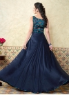 Satin Designer Floor Length Salwar Suit - 1