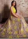 Salmon and Yellow Designer Classic Lehenga Choli For Ceremonial - 1
