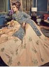 Banglori Silk Beige and Grey Designer Kameez Style Lehenga Choli - 1