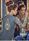 Banglori Silk Beige and Grey Designer Kameez Style Lehenga Choli - 2
